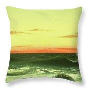 Seascape Sunset 1861 Throw Pillow