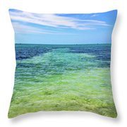 Seascape - The Colors Of Key West Throw Pillow