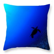 Seascape Turtle Throw Pillow