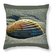Seashell After The Wave Throw Pillow