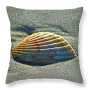 Seashell After The Wave Square Throw Pillow