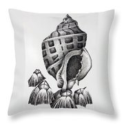 Seashell And Barnacles Throw Pillow
