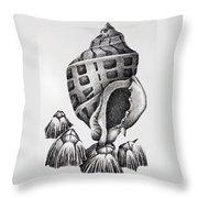 Seashell And Barnacles Throw Pillow