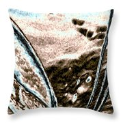 Seashell And Seaweed Throw Pillow