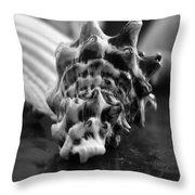Seashell Bw  Throw Pillow