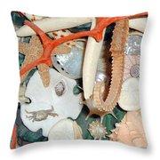 Seashell Crazy Throw Pillow