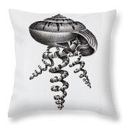 Seashell Forms Throw Pillow