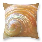 Seashell Sandy Fantasy Throw Pillow