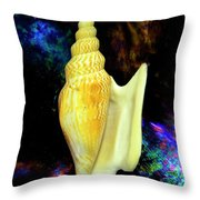 Seashell Strombus Listeri Throw Pillow