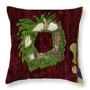 Seashell Wreathe Throw Pillow