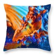 Seashells Abstract Throw Pillow