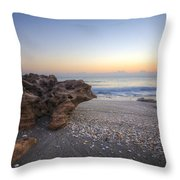 Seashells At The Seashore Throw Pillow