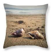 Seashells In The Sand Throw Pillow