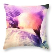 Seashells Painted  Throw Pillow