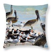 Seashore Gathering Throw Pillow