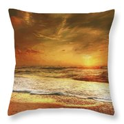 Seashore Sunset Throw Pillow