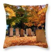 Seaside Cemetery Throw Pillow