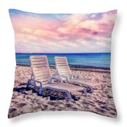 Seaside Chairs Throw Pillow