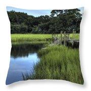 Seaside Creek Fort Lamar Battle Of Secessionville Throw Pillow