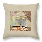 Seaside Dragonfly Throw Pillow