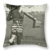 Seaside Excitement Throw Pillow