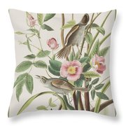 Seaside Finch Throw Pillow