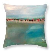 Seaside Garden Throw Pillow