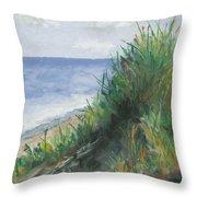 Seaside Throw Pillow by Ginny Neece
