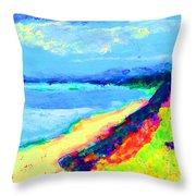 Seaside Green Throw Pillow