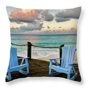 Seaside In Antigua Throw Pillow