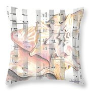 Seaside  Throw Pillow by Kathy Weidner