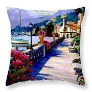 Seaside Pathway 3 Throw Pillow