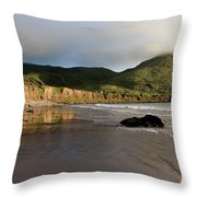 Seaside Reflections - County Kerry - Ireland Throw Pillow by Aidan Moran