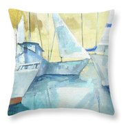 Seaside Sails Throw Pillow