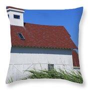 Seaside Schoolhouse Throw Pillow