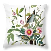 Seaside Sparrow, 1858 Throw Pillow