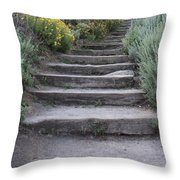 Seaside Steps Throw Pillow