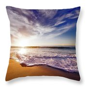Seaside Sunset Throw Pillow