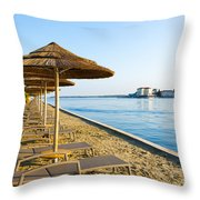 Seaside Time Throw Pillow