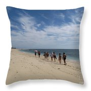 Seaside Walk Nosy Ve Madagascar Throw Pillow