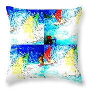 Seaside-regatta Throw Pillow