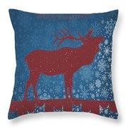 Seasonal Greetings Artwork Throw Pillow