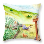 Seasons First Tomatoes Throw Pillow