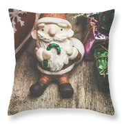 Seasons Greeting Santa Throw Pillow