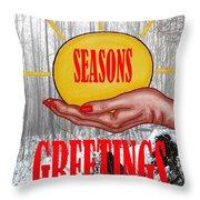 Seasons Greetings 31 Throw Pillow