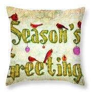 Season's Greetings Card Throw Pillow