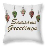 Seasons Greetings Merry Christmas Throw Pillow