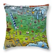 Seasons Greetings Usa Throw Pillow