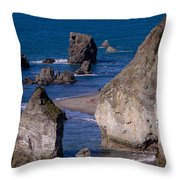 Seastacks Throw Pillow
