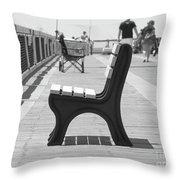 Seat On The Pier Throw Pillow